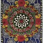 Rosalisa Tapijt - Psychedelic Rose red