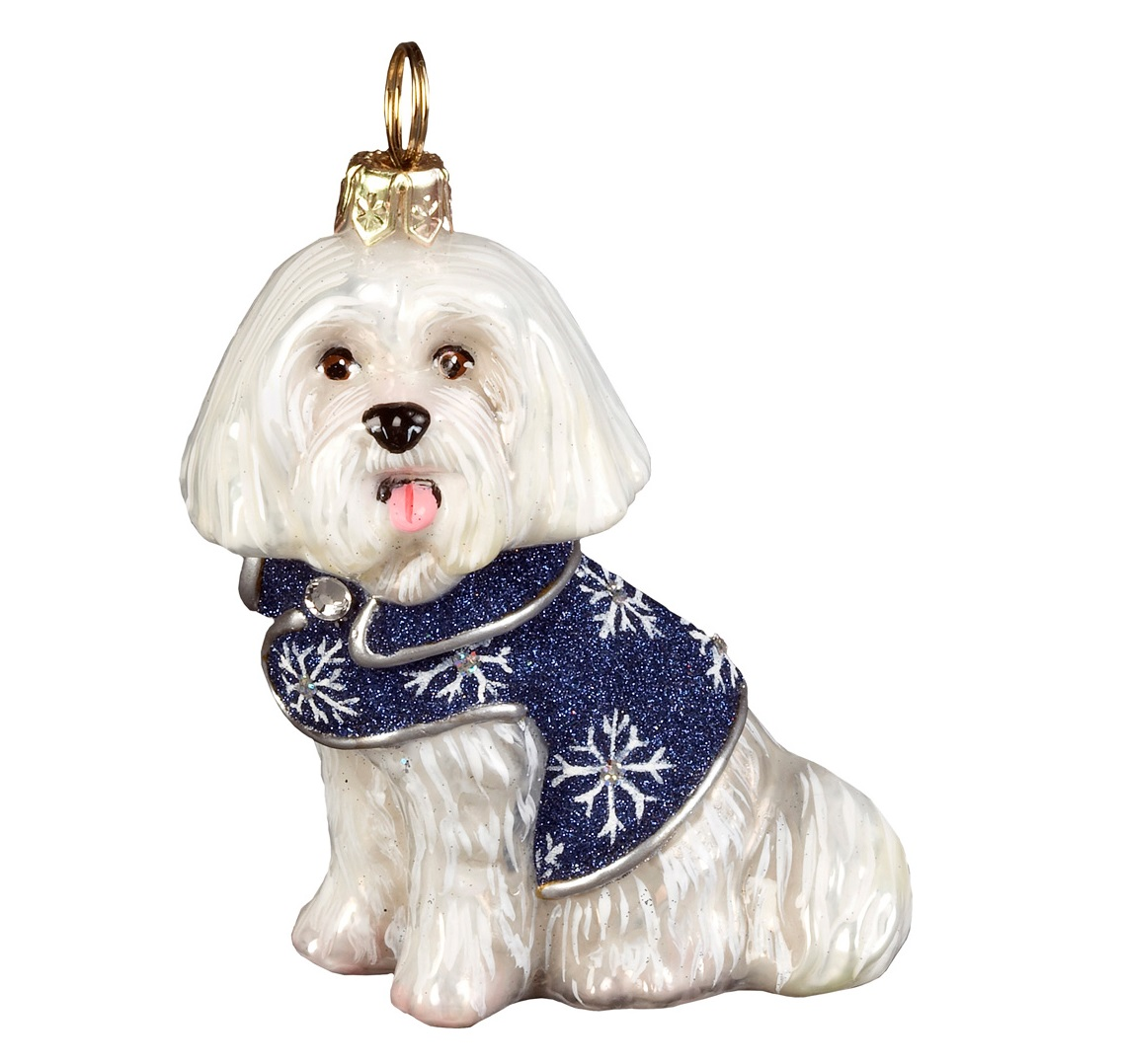 xmas_kerstbal_ornament_hond_maltezer_sneeuwvlok_jas